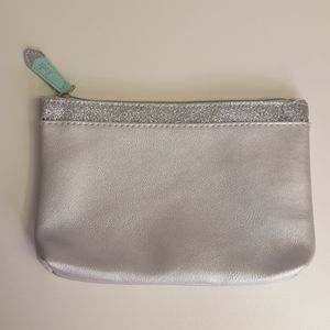 Ipsy Silver Glitter Make Up Bag